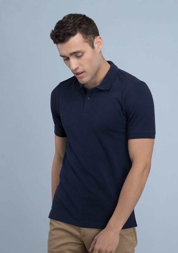 Navy Blue Polo T-shirt Online