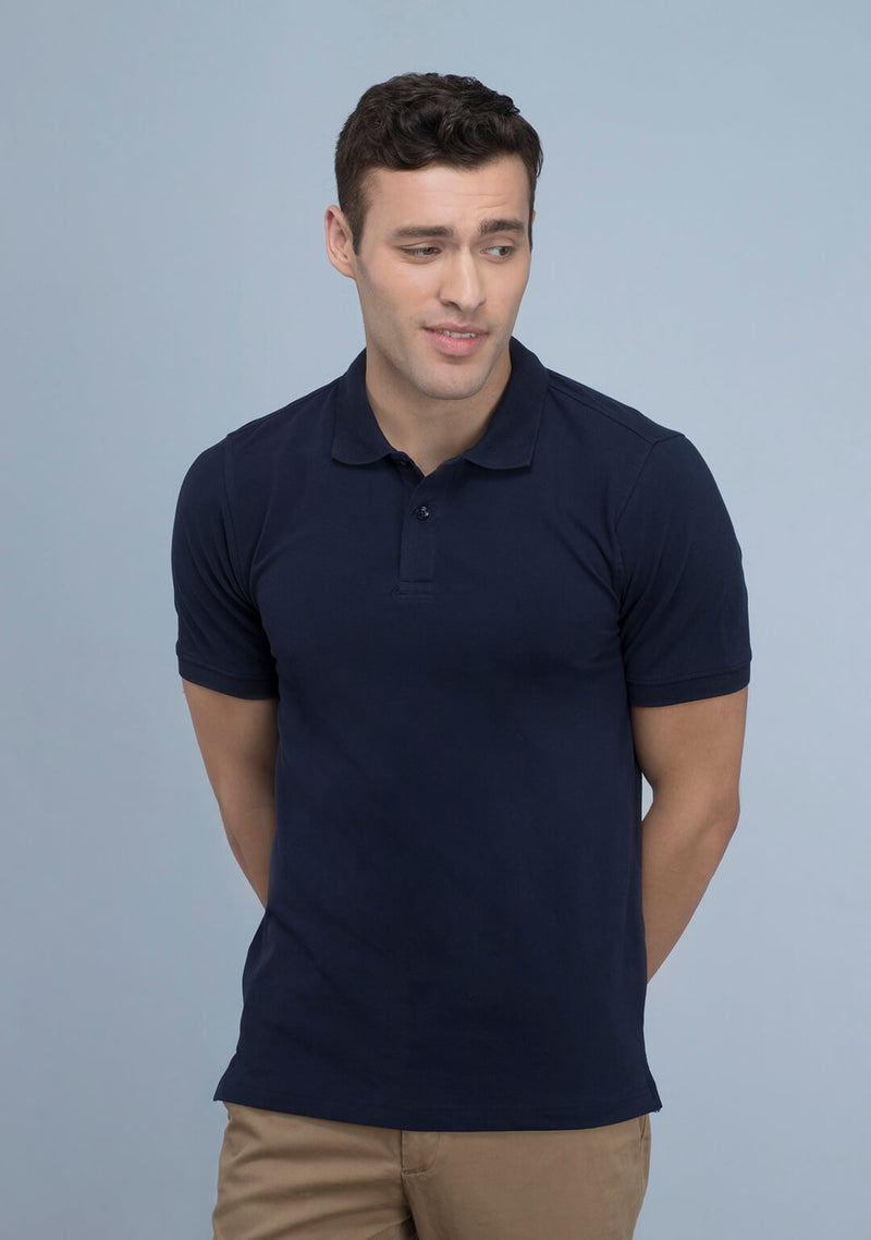 Navy Blue Polo T-shirt India