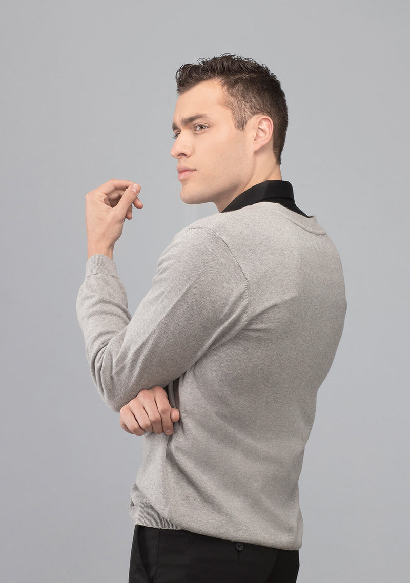 grey cardigan sweater men