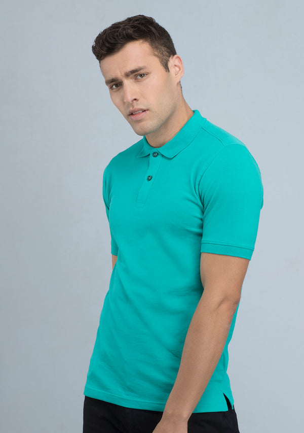 Sea Green Polo T-shirt for Men