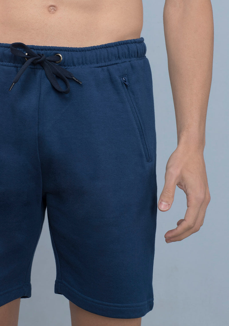 dark indigo color shorts for men
