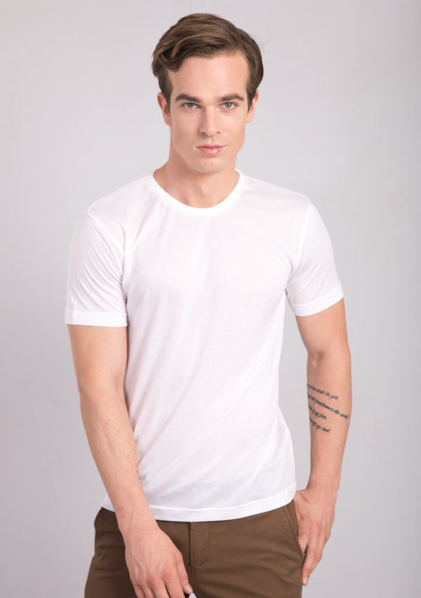 Crew neck t shirt white colour