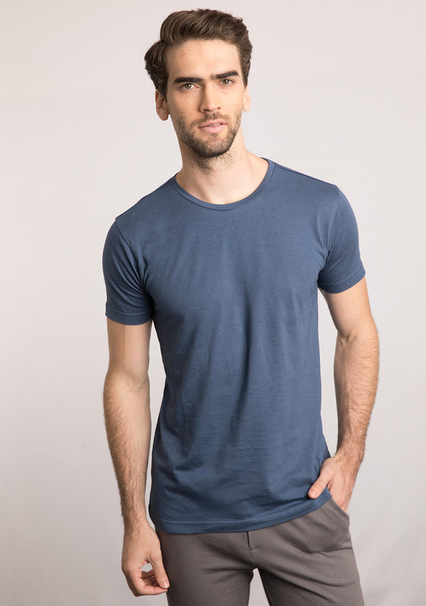blue color t shirt men