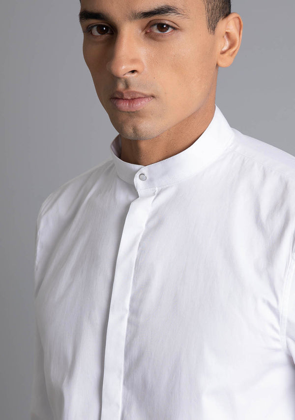 Bandhgala Shirt in White