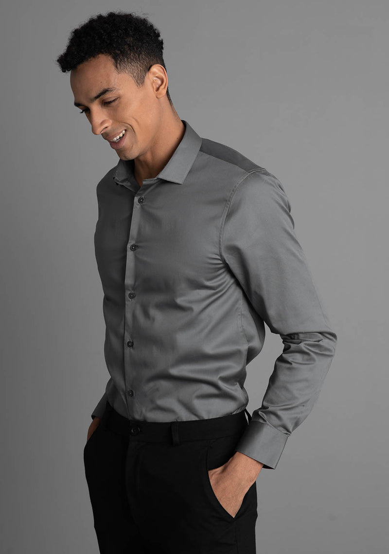 Classic Shirt in Gunmetal