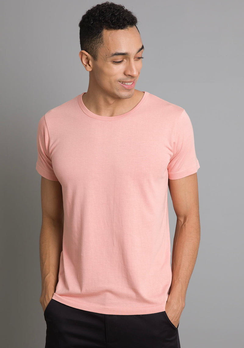 Crew Neck in Peach Melba