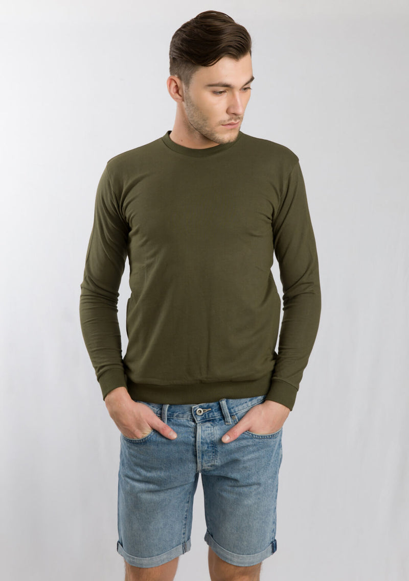Classic Sweatshirt in Dark Olive
