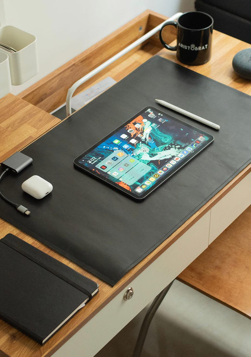 Desk Pad In Black