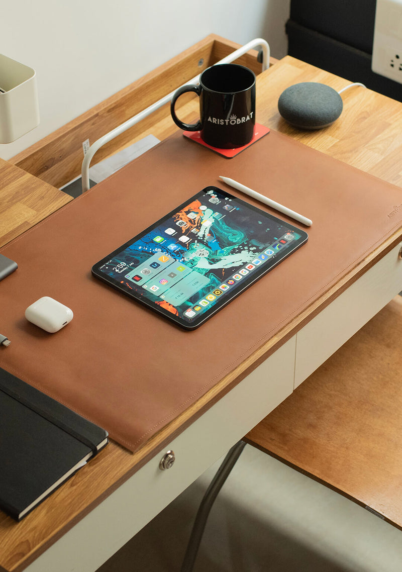 Desk Pad In Tan