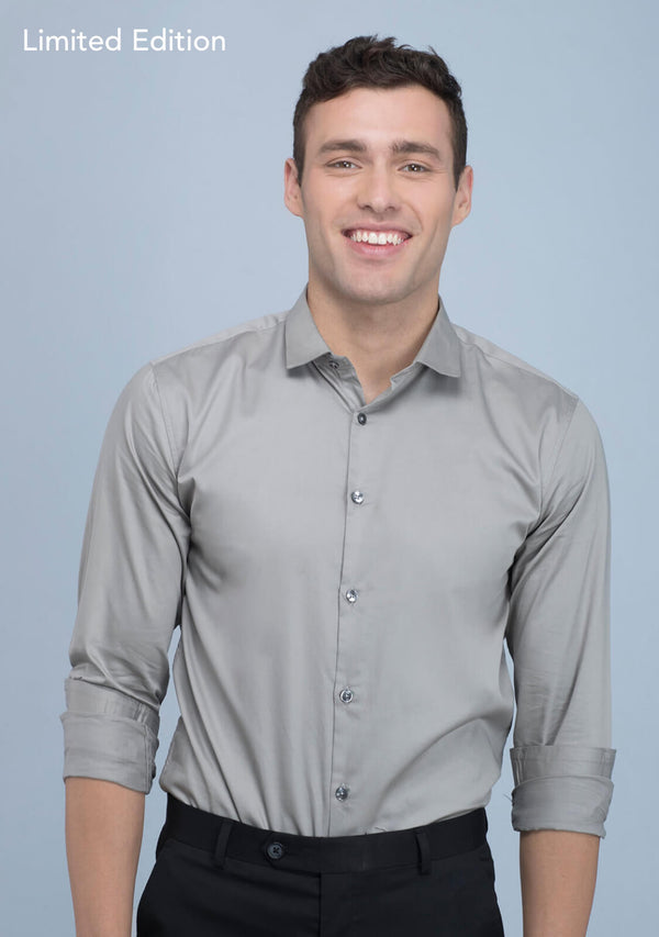Metallic Grey Shirt for Men