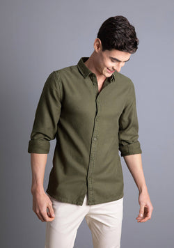 Tencel Shirt in Cedar Green