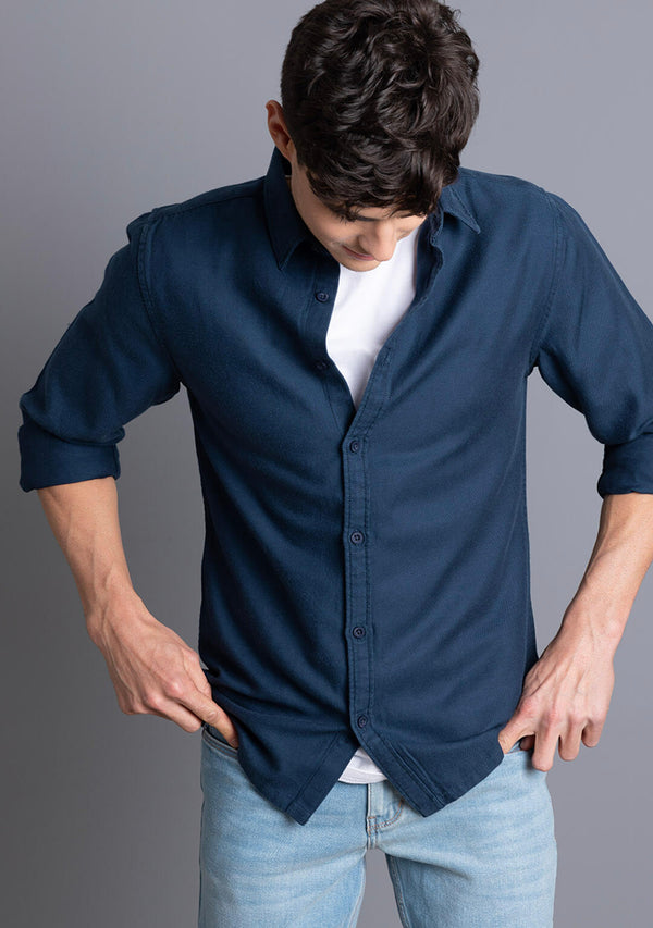 Tencel Shirt in True Navy