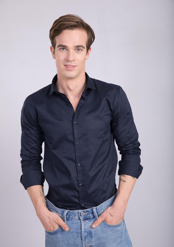 Navy Blue Shirt
