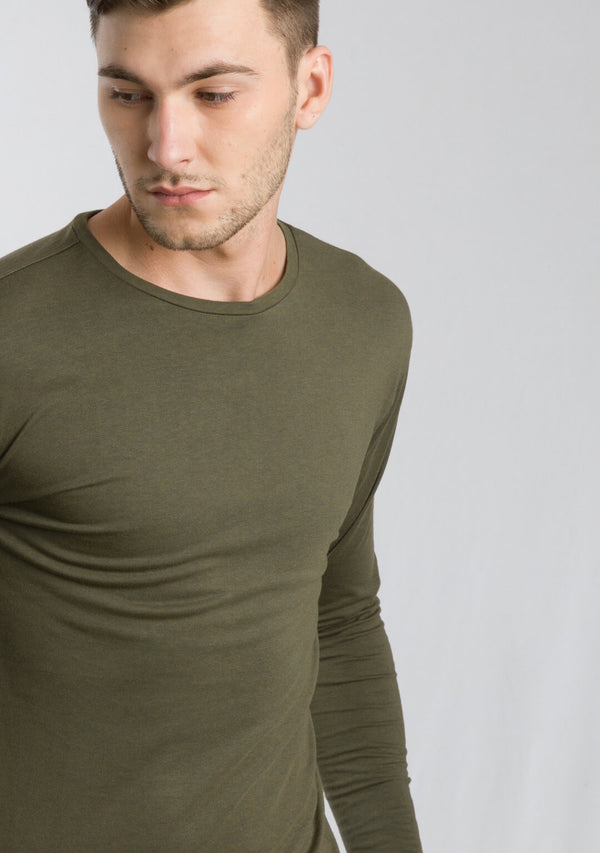 Olive Color Full Sleeve T-shirts for Men