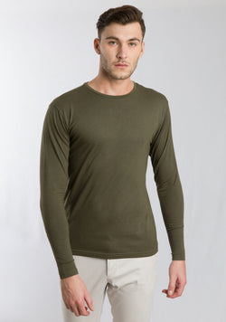 Full Sleeve T-shirt in Olive
