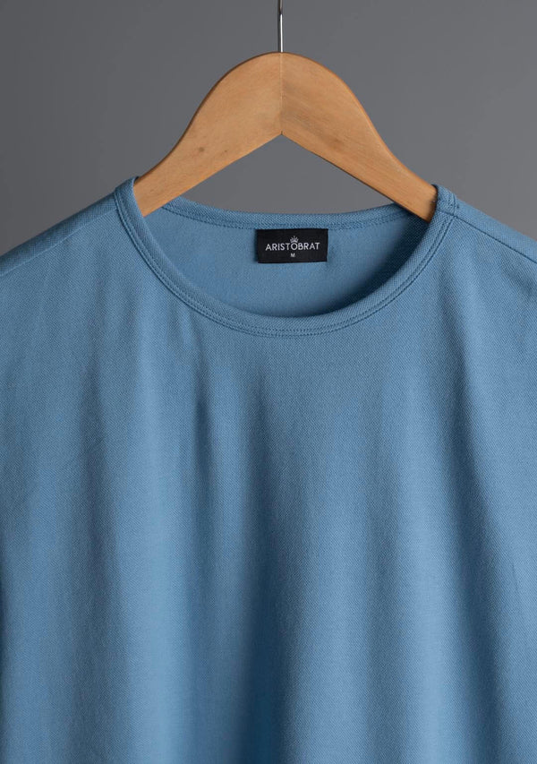 Piqué T Shirt in Vista Blue