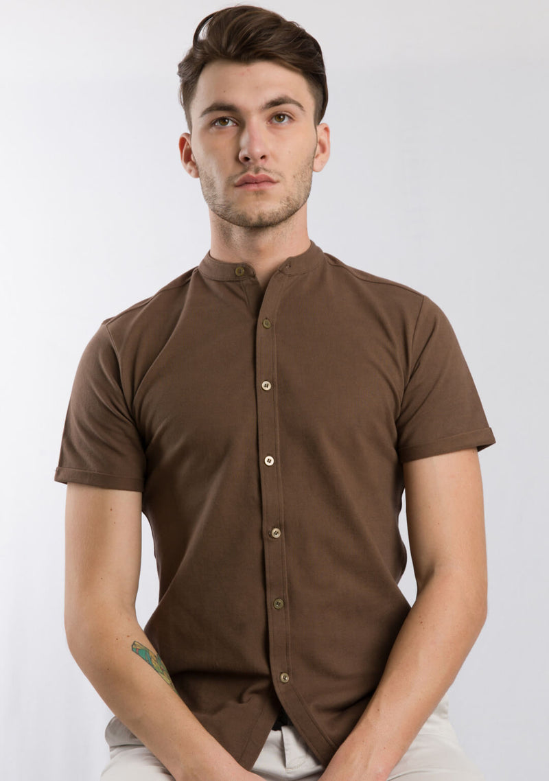 Picture of Men's Piqué Shirt Mustang Colour