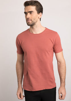 brick color t shirts for men