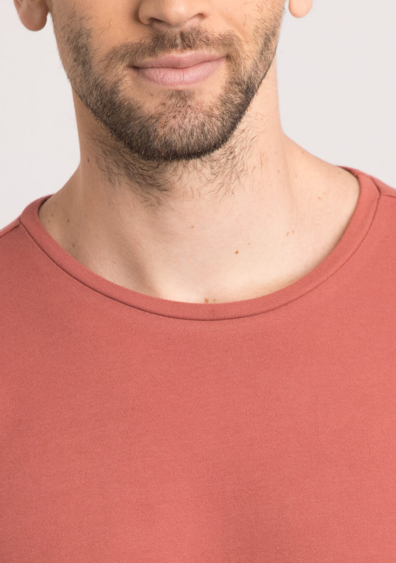 buy brick color t shirts for men online