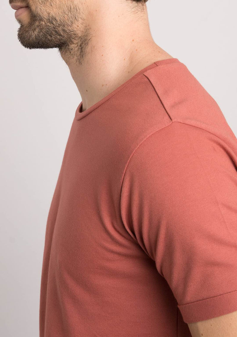brick color t shirts for mens online