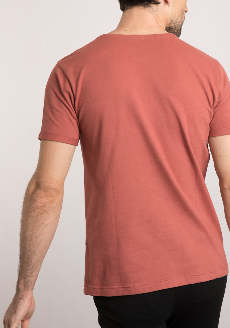 brick color t shirts for men online