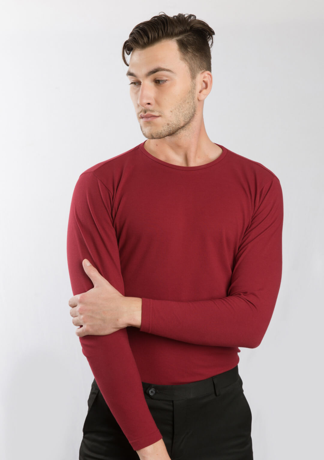 Full Sleeve Piqué T-shirt In Haute Red