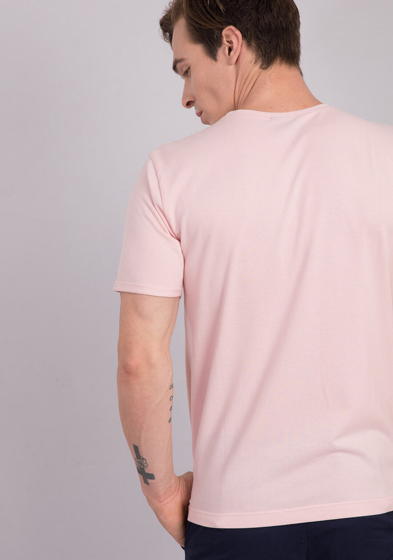 Piqué T-shirt in Light Pink