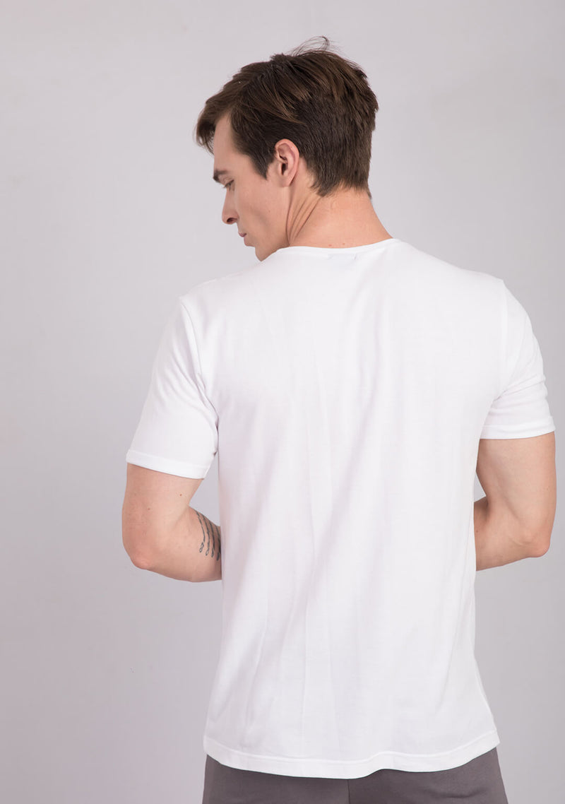 Piqué T-shirt in White