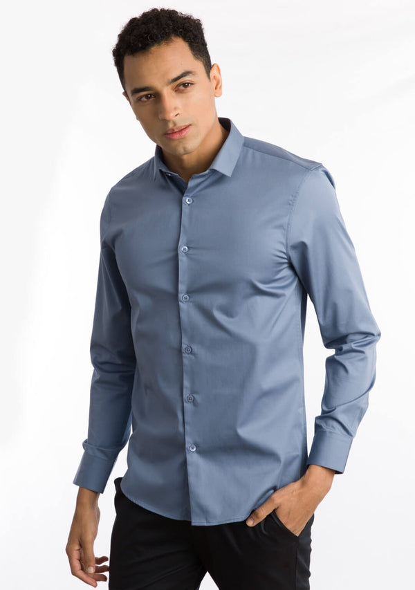 English Blue Shirt