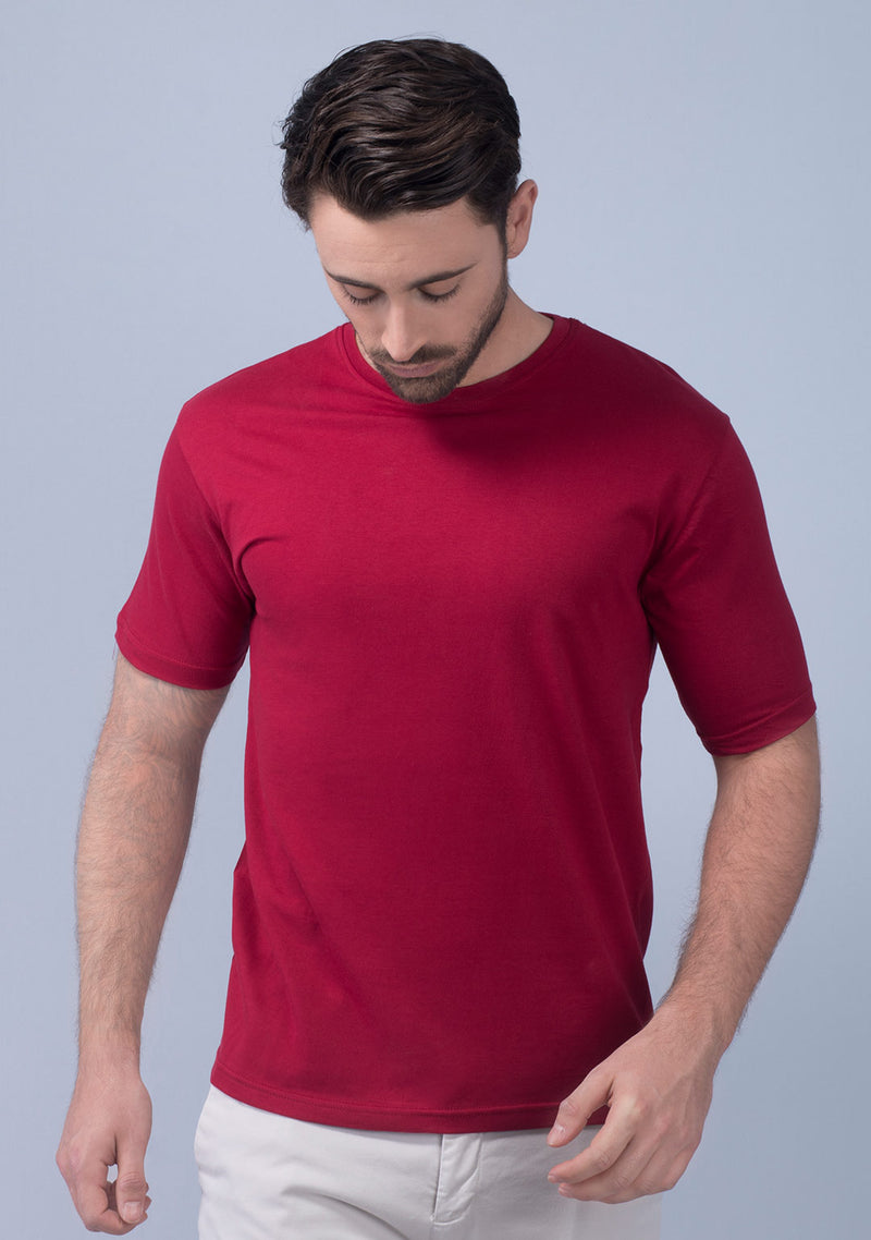 maroon t shirt men