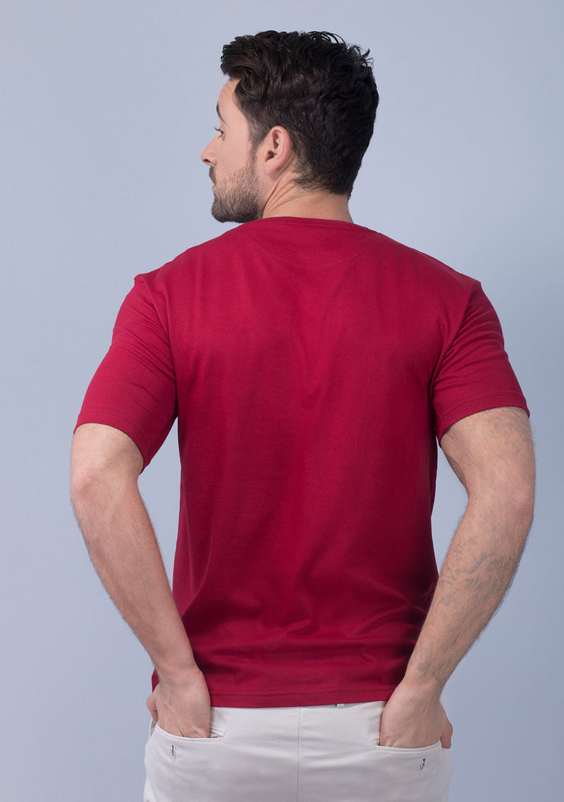 pepper red color t shirt mens