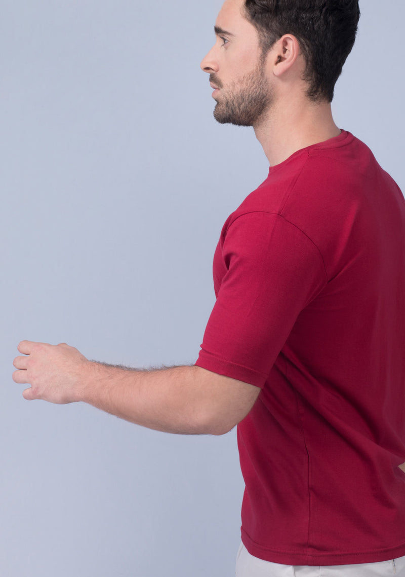 pepper red color t shirt men
