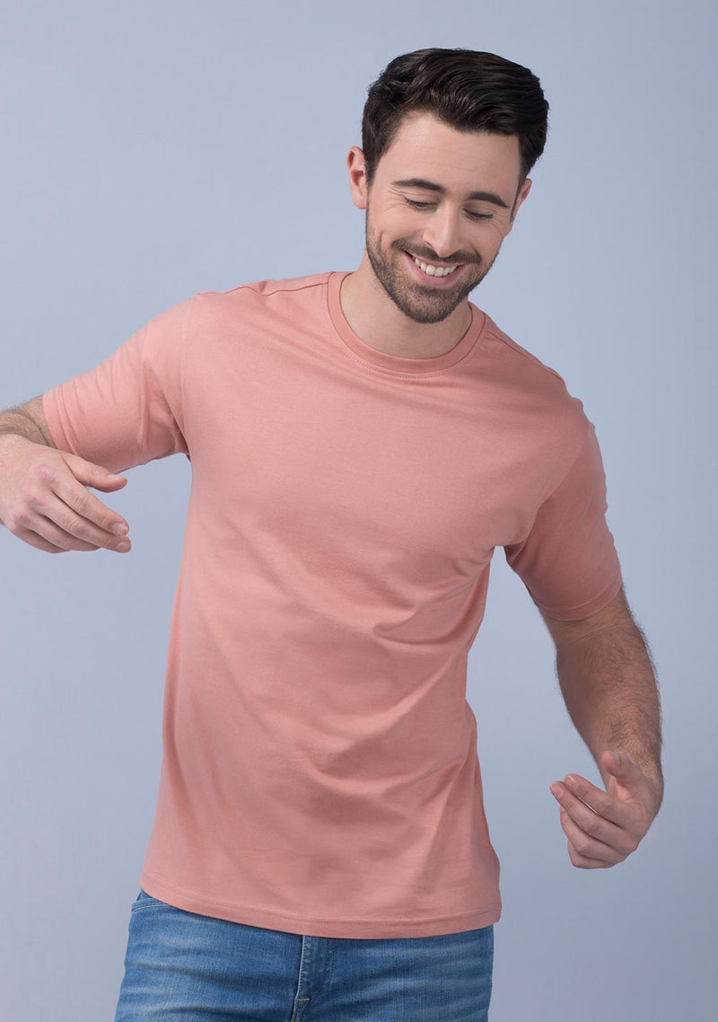 coral crew neck t shirt India