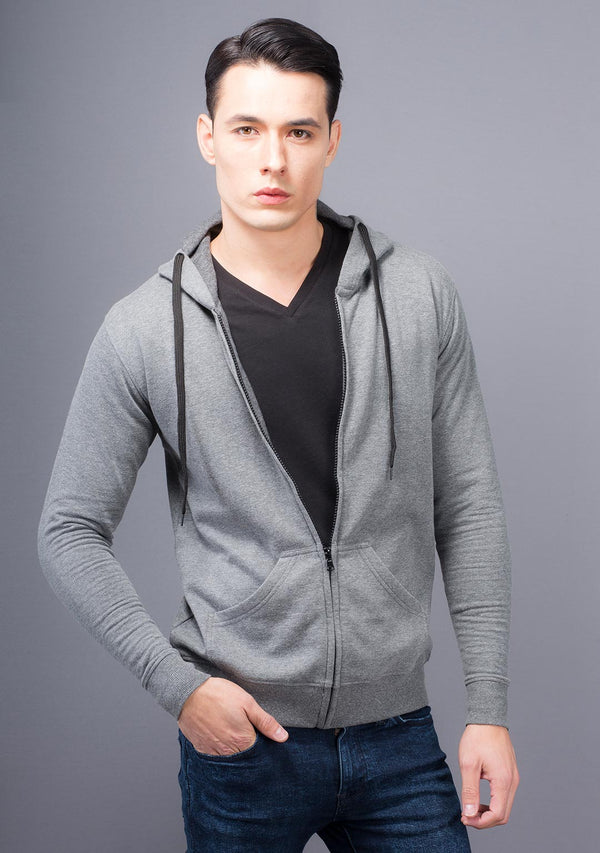 Light Grey Mélange Color Hoodie