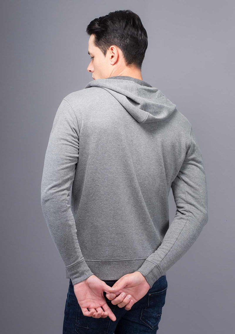 Light Grey Mélange Color Hoodie India
