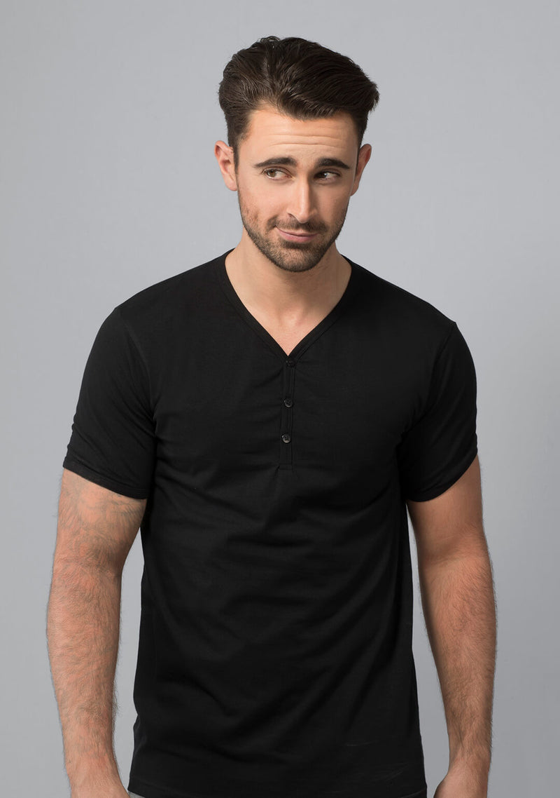 Shop Henley T-shirt in Jet Black India