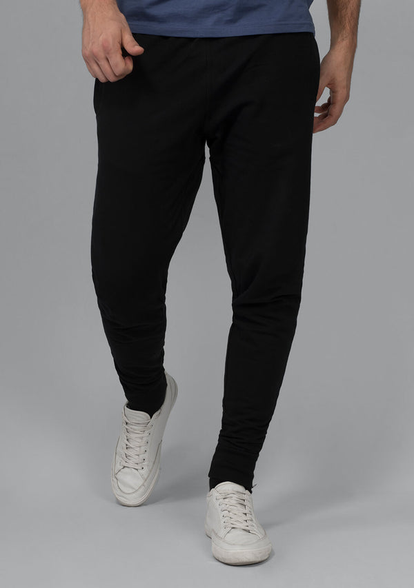 Jet Black Color Joggers for Men