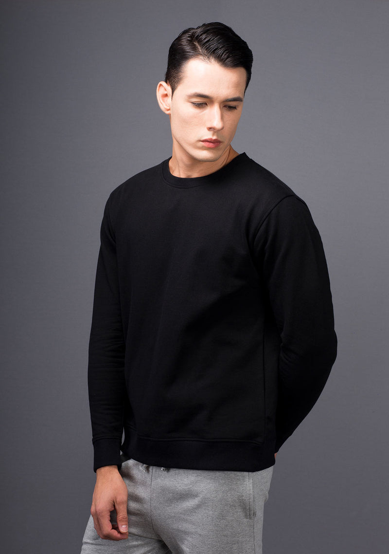 Shop Jet Black Color Sweatshirt Online