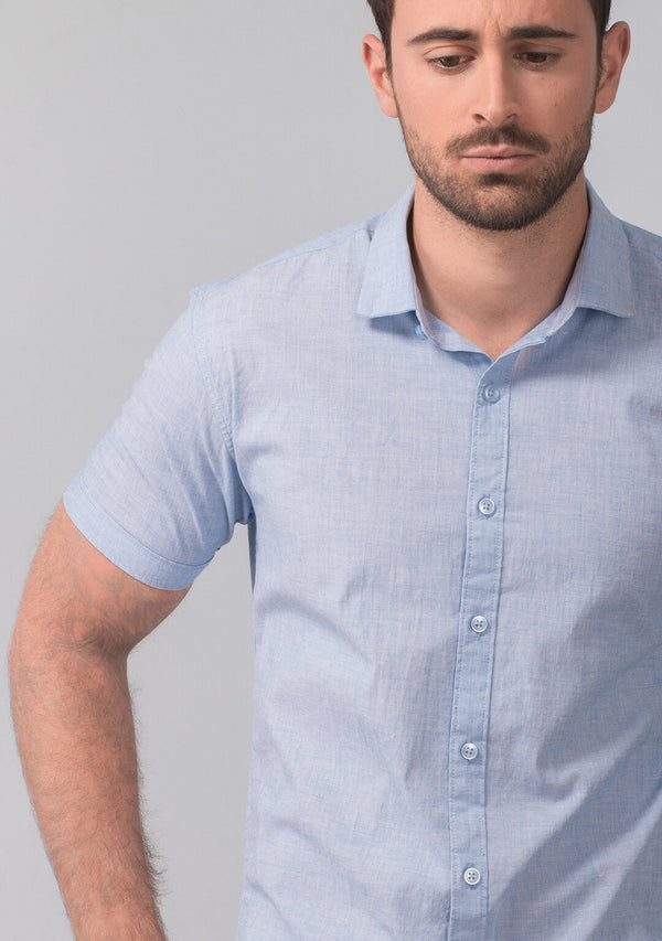 Light Blue Short Sleeve Shirt Online