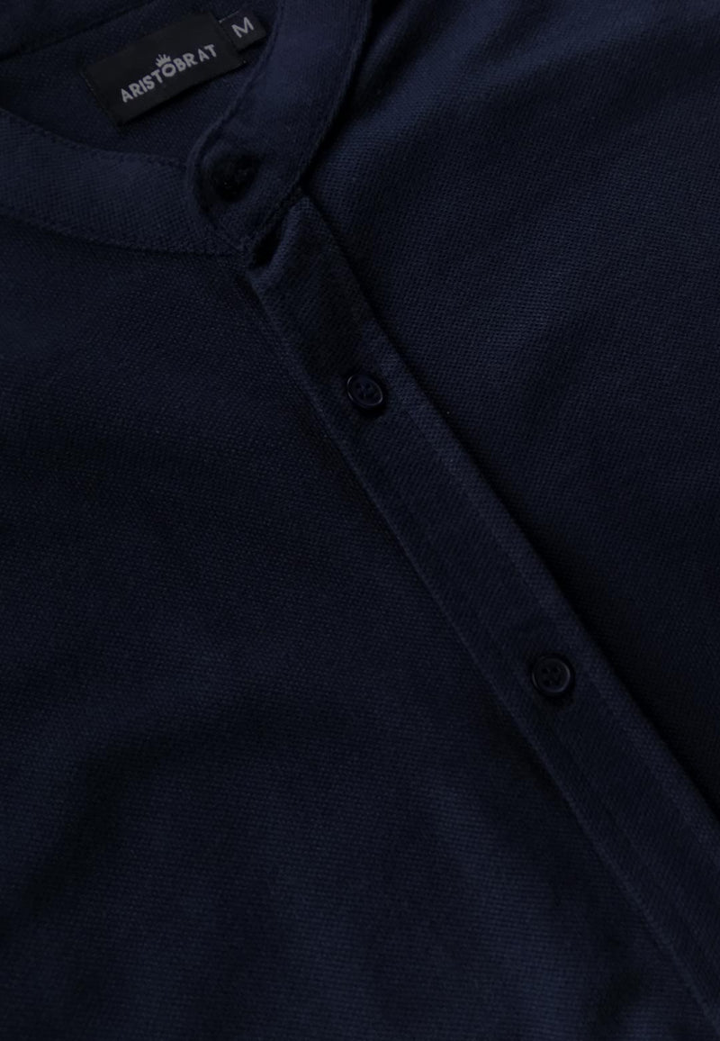 Pique Shirt in Midnight Navy Color for Men
