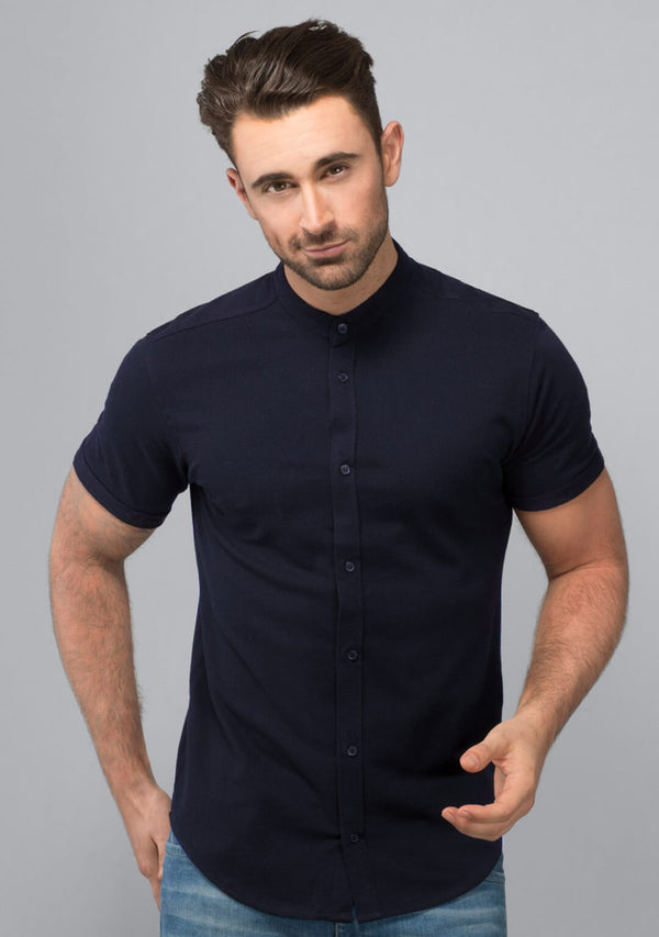 Midnight Navy Pique Shirt