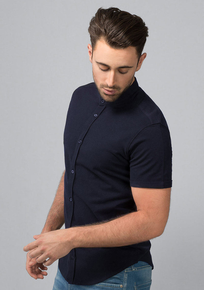 Midnight Navy Pique Shirt Online