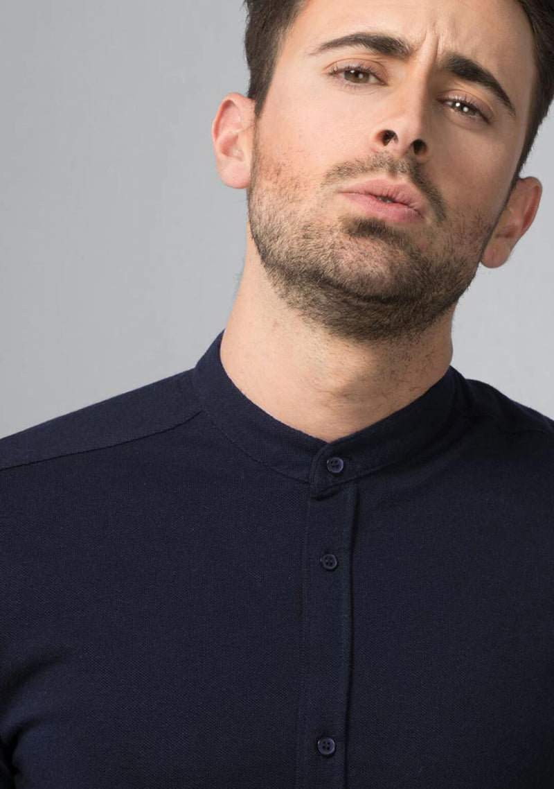 Buy Midnight Navy Pique Shirt