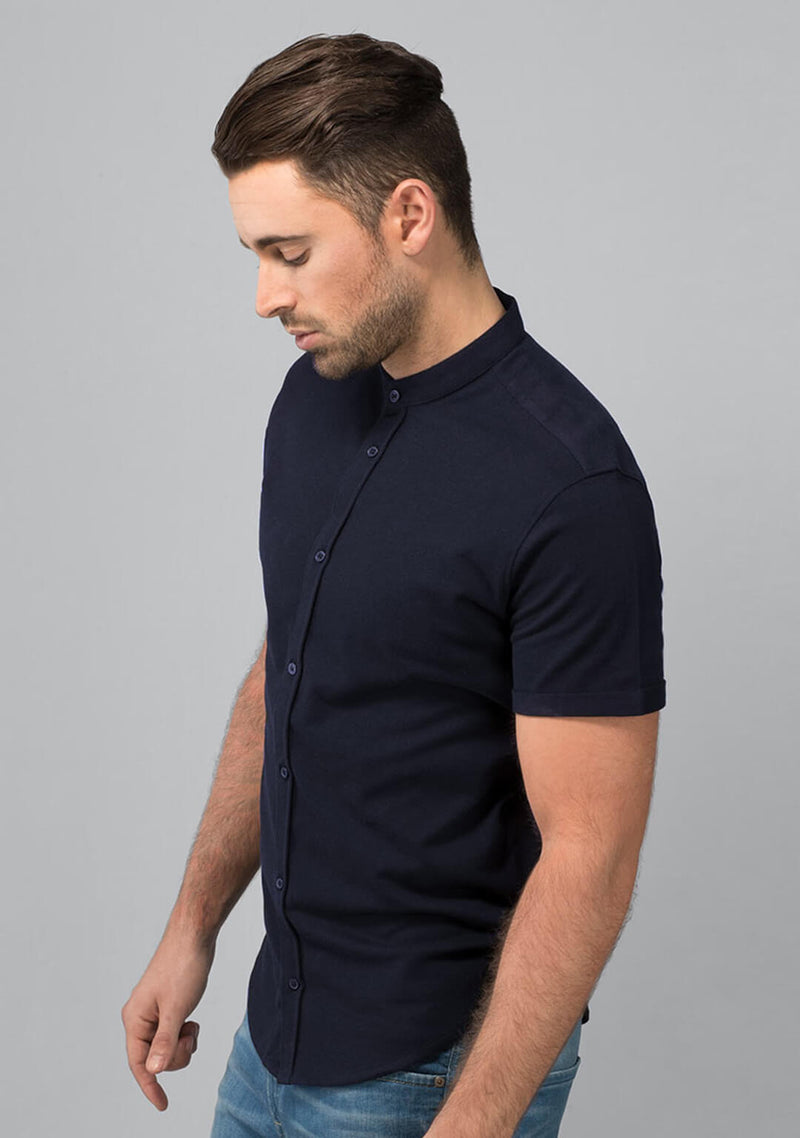 Midnight Navy Pique Shirt India