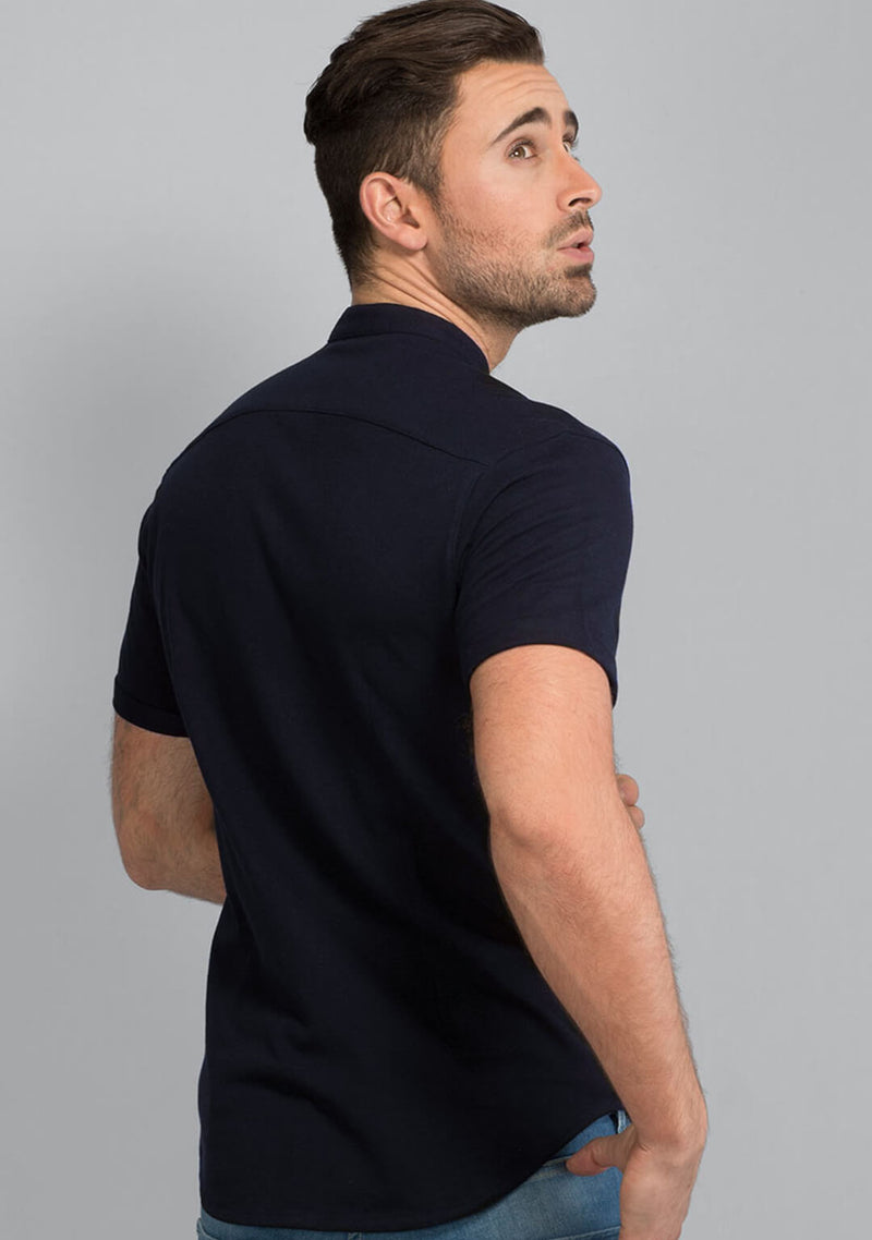 Midnight Navy Pique Shirt for Men