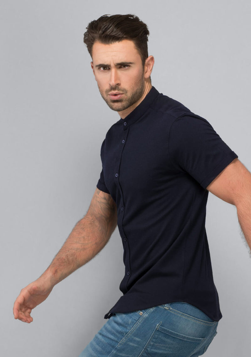 Shop Midnight Navy Pique Shirt Online