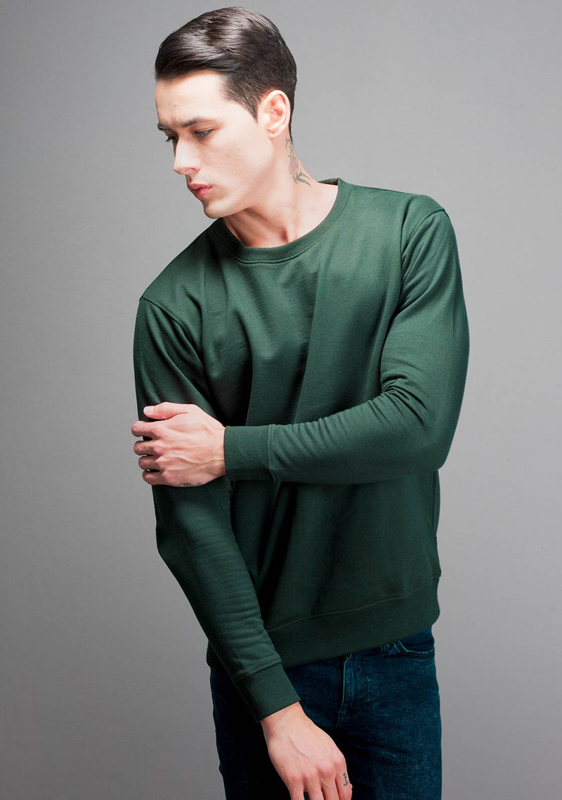 Sweatshirt in Military Green Color