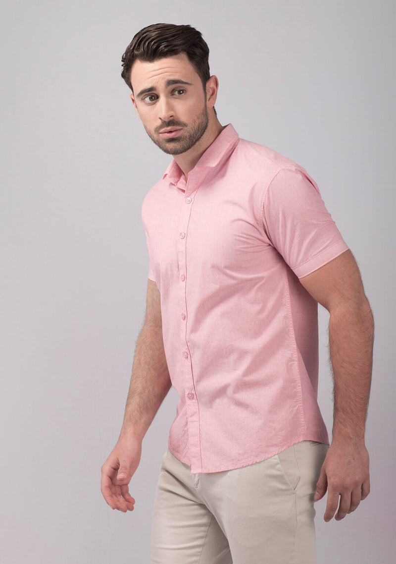 Pale Pink Short Sleeve Shirt