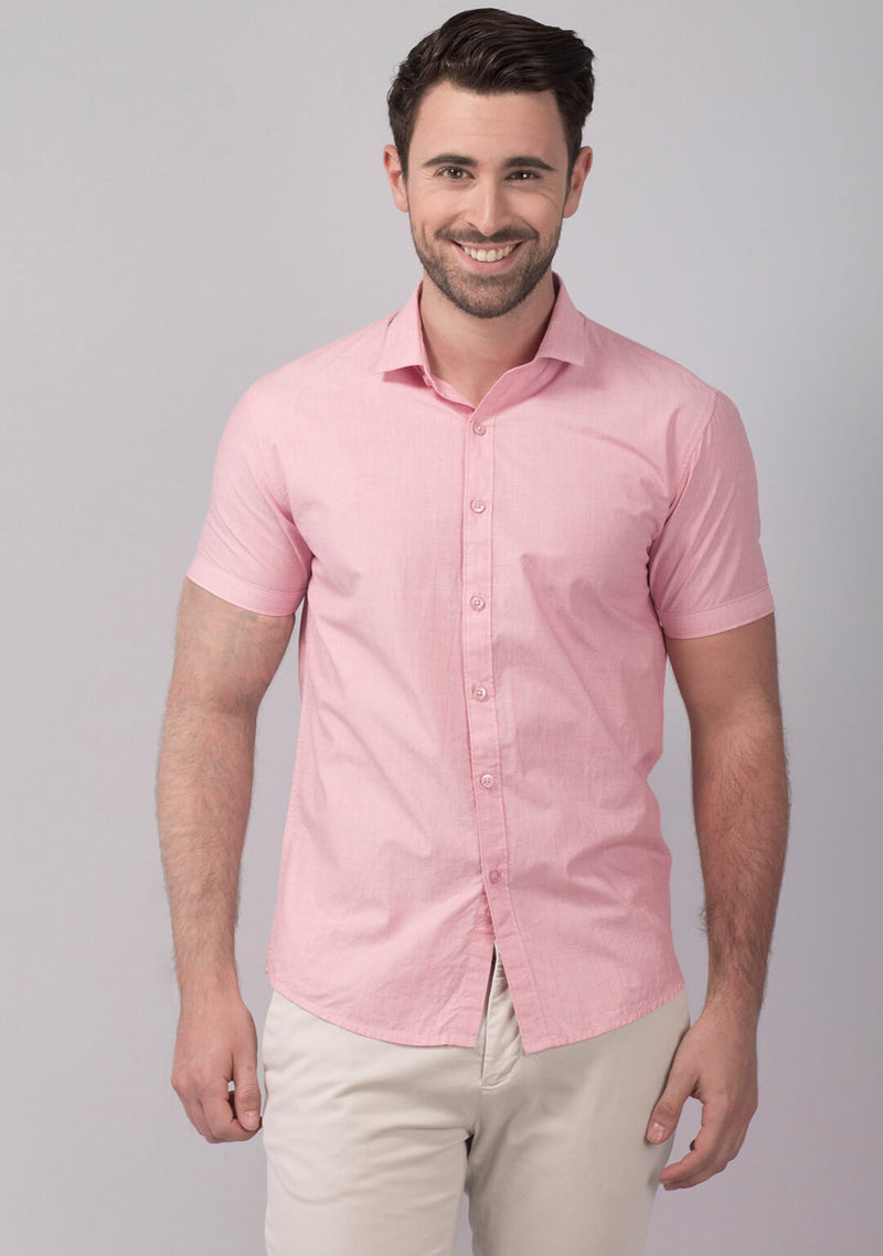 Buy Pale Pink Short Sleeve Shirt