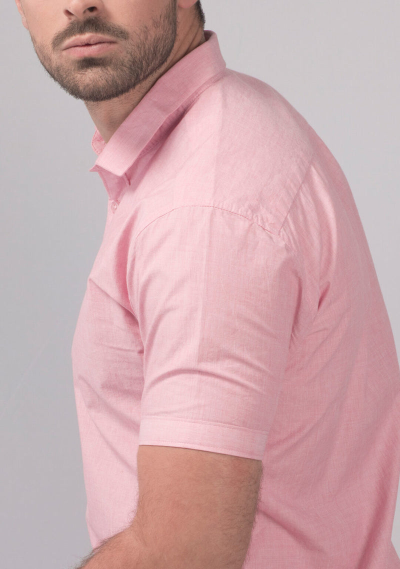 Pale Pink Short Sleeve Shirt India